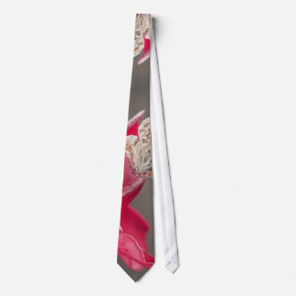 Brown butterfly on a pink flower petal tie