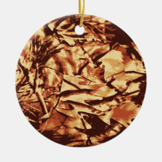 Brown Camo Camouflage Gifts for Hunters Ceramic Ornament