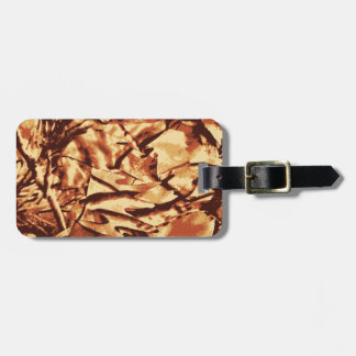 Brown Camo Camouflage Gifts for Hunters Luggage Tag