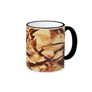 Brown Camo Camouflage Gifts for Hunters Ringer Mug