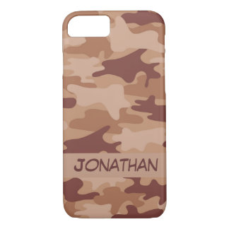 Brown Camo Camouflage Name Personalized iPhone 7 Case