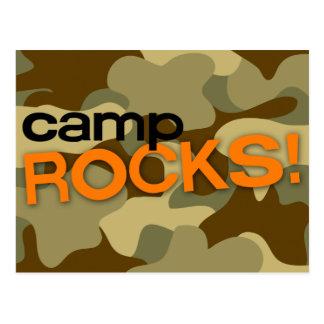 Brown Camo CAMP ROCKS! Postcard