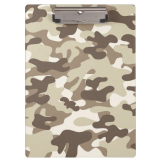 Brown Camo Design Clipboard