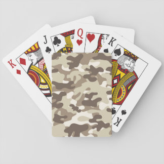 Brown Camo Design Deck Of Cards