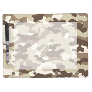 Brown Camo Design Dry Erase Board