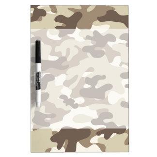Brown Camo Design Dry Erase Whiteboard