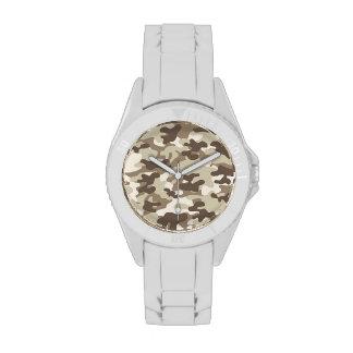 Brown Camo Design Wrist Watch