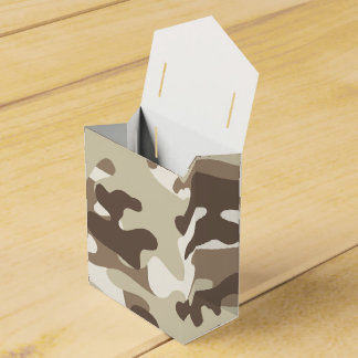 Brown Camo Design Party Favour Box