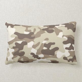 Brown Camo Design Throw Cushion