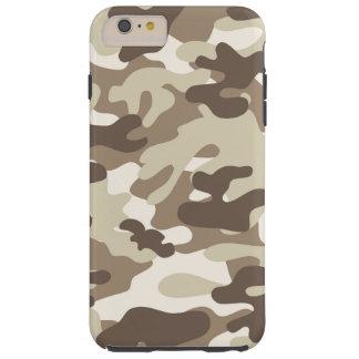 Brown Camo Design Tough iPhone 6 Plus Case