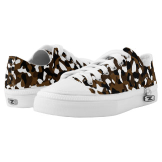 Brown Camo Printed Shoes