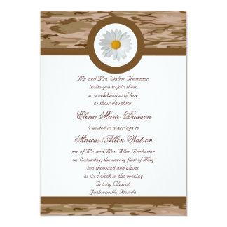 Brown Camo Wedding Invitation