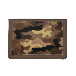 Brown Camoflauge Tri-fold Wallet