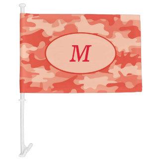Brown Camouflage Camo Monogram Initial Window Car Flag