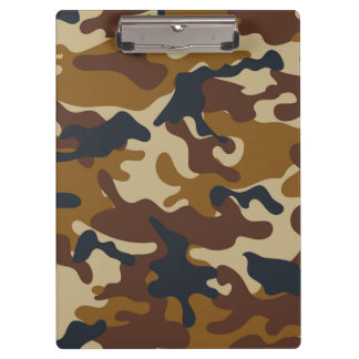 Brown Camouflage Clipboard