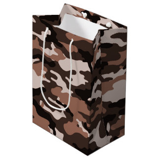 Brown camouflage Gift Bag