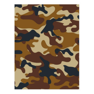 Brown Camouflage Postcard