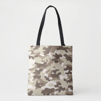 Brown Camouflage Tote Bag