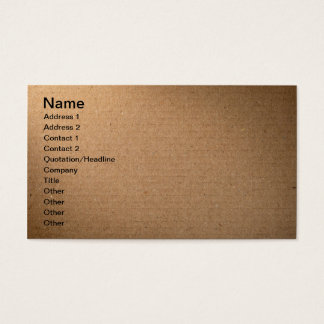 Brown Cardboard Texture For Background Business Card