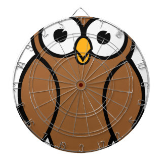 Brown Cartoon Owl Dartboard