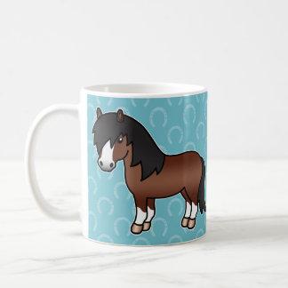 Brown Cartoon Shetland Pony Coffee Mug