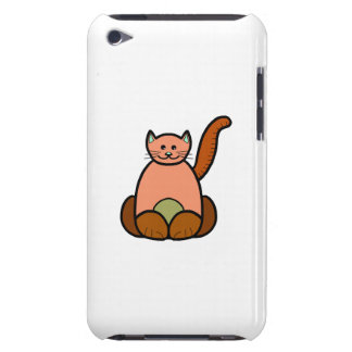 Brown cat cartoon barely there iPod case