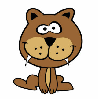 brown cat funny cartoon animation smile standing photo sculpture