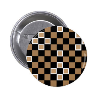 Brown Checkers Pin