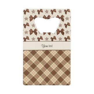 Brown Checks & Beautiful Bows
