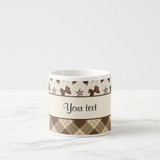 Brown Checks & Beautiful Bows Espresso Cup