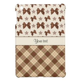 Brown Checks & Beautiful Bows iPad Mini Cover