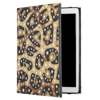 Brown Cheetah Print Stars iPad Pro Case