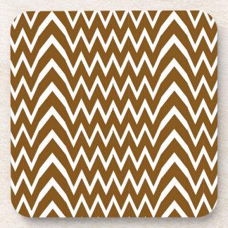 Brown Chevron Illusion Coaster