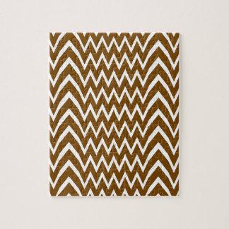 Brown Chevron Illusion Jigsaw Puzzle