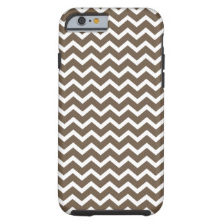 Brown Chevrons Pattern Tough iPhone 6 Case