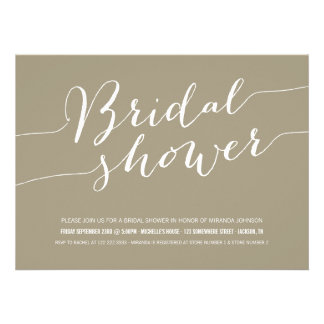 Brown Chic Bridal Shower Invitations