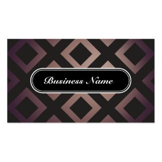 Brown Chic Graphic Square Pattern Pack Of Standard Business Cards