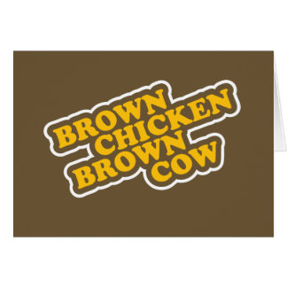 Brown Chicken Brown Cow Card