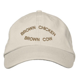 Brown Chicken Brown Cow Embroidered Cap