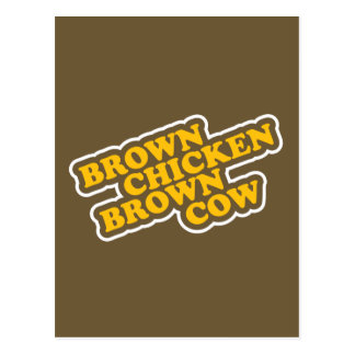 Brown Chicken Brown Cow Postcard