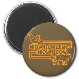 Brown Chicken Brown Cow Refrigerator Magnet