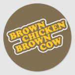Brown Chicken Brown Cow Sticker