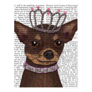 Brown Chihuahua And Tiara Postcard