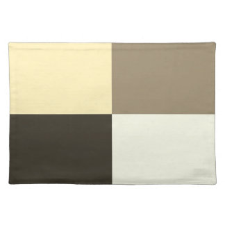 Brown Chocolate Beige Cream Tan Placemat