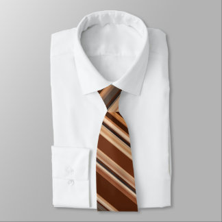 Brown/Chocolate/Coffee Striped Pattern Tie