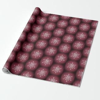 Brown Chritsmas White snowflakes wrapping  paper