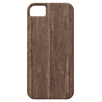 Brown Clapboard Barely There iPhone 5 Case