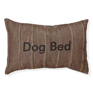 Brown Clapboard Pet Bed