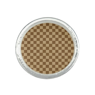 Brown Classic Checkerboard by Shirley Taylor