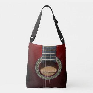 Brown Classic Guitar, Full Print Cross Body Bag